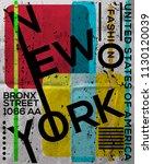 nyc  new york  stock vector... | Shutterstock .eps vector #1130120039