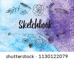 abstract colorful watercolor... | Shutterstock .eps vector #1130122079