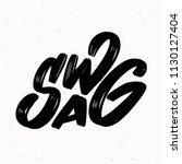 swag. vector lettering. | Shutterstock .eps vector #1130127404
