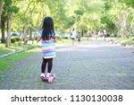 asian children or kid girl... | Shutterstock . vector #1130130038