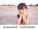 asian children cute or kid girl ... | Shutterstock . vector #1130130044