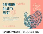 premium quality turkey.... | Shutterstock .eps vector #1130131409