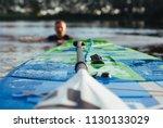 Sup Board And Paddle Closeup