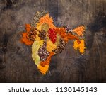 map of india made from... | Shutterstock . vector #1130145143