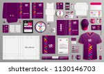 purple corporate identity... | Shutterstock .eps vector #1130146703