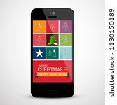 christmas design on mobile... | Shutterstock .eps vector #1130150189