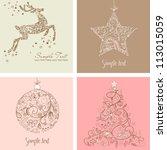 christmas set | Shutterstock .eps vector #113015059