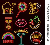 set of fashion neon sign....   Shutterstock .eps vector #1130151479