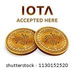 iota. accepted sign emblem....   Shutterstock .eps vector #1130152520