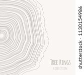 tree rings texture collection.... | Shutterstock .eps vector #1130154986