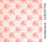 vintage floral paper background ... | Shutterstock . vector #1130157743