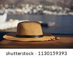 traditional hat  in a small... | Shutterstock . vector #1130159393