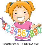 illustration of a kid girl... | Shutterstock .eps vector #1130165450