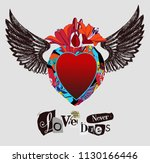 love never dies. collage of...   Shutterstock .eps vector #1130166446
