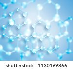 molecule and atoms abstract... | Shutterstock . vector #1130169866