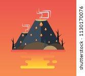 volcanic eruption. vector...   Shutterstock .eps vector #1130170076