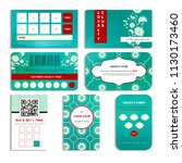 set of loyalty cards. beautiful ... | Shutterstock .eps vector #1130173460