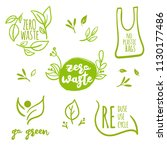zero waste lables collection.... | Shutterstock .eps vector #1130177486