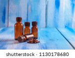 essential oil of cloves in a... | Shutterstock . vector #1130178680