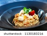 risotto scallops and dried... | Shutterstock . vector #1130183216