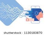 neural networks  voice... | Shutterstock .eps vector #1130183870