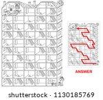 house labyrinth   portrait....   Shutterstock .eps vector #1130185769