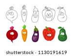 cartoon vegetables  set.... | Shutterstock .eps vector #1130191619