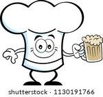 cartoon illustration of a chef... | Shutterstock . vector #1130191766