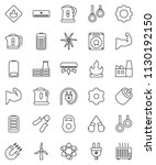 thin line vector icon set  ... | Shutterstock .eps vector #1130192150