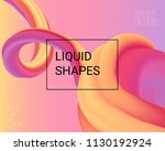 dynamic shapes composition. 3d... | Shutterstock .eps vector #1130192924