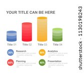bar chart infographic design... | Shutterstock .eps vector #1130198243
