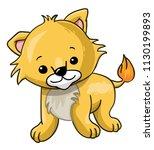 cartoon cute lion cub | Shutterstock .eps vector #1130199893