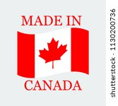 flag of canada with text made... | Shutterstock .eps vector #1130200736