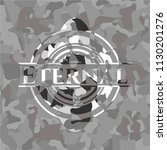 eternal on grey camo pattern | Shutterstock .eps vector #1130201276