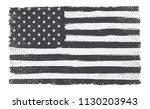 grunge usa flag. | Shutterstock .eps vector #1130203943
