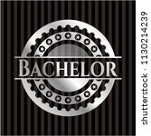 bachelor silvery emblem   Shutterstock .eps vector #1130214239