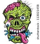 Detailed Zombie Head...
