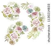 set of flowers illustration... | Shutterstock . vector #1130214833
