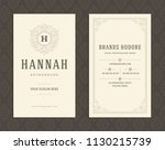 luxury business card and...   Shutterstock .eps vector #1130215739