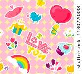 graffiti funny doodles seamless ... | Shutterstock .eps vector #1130220338