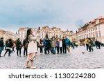 prague  czech republic  ... | Shutterstock . vector #1130224280