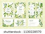 eucalyptus design. wedding... | Shutterstock .eps vector #1130228570