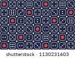 dadu gelap or dark dice. ... | Shutterstock .eps vector #1130231603