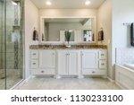 Updated Modern Bathroom - stock photo