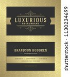 luxury business card and... | Shutterstock .eps vector #1130234699