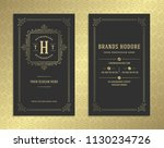 luxury business card and... | Shutterstock .eps vector #1130234726