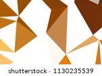 light orange vector low poly... | Shutterstock .eps vector #1130235539
