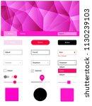 light pink vector ui kit in...