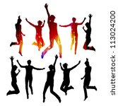 dancing silhouettes | Shutterstock . vector #113024200