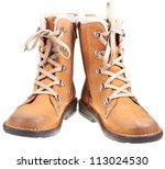 Pair Of Autumn Outdoor Boots...